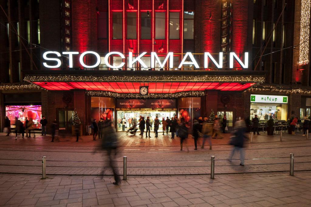 Stockmann department store, lights, Helsinki